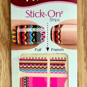 Kiss Bright Colorful Tribal-Pattern Nail Stickers